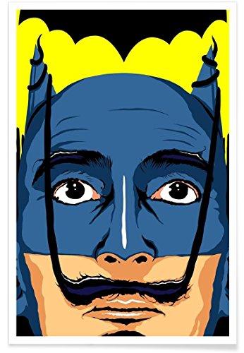 Juniqe® Affiche 20x30cm Batman Pop Art - Design Dali Batman (Format : Portrait) - Poster, Tirages d'art & Tableaux par des Artistes indépendants créé par Butcher Billy