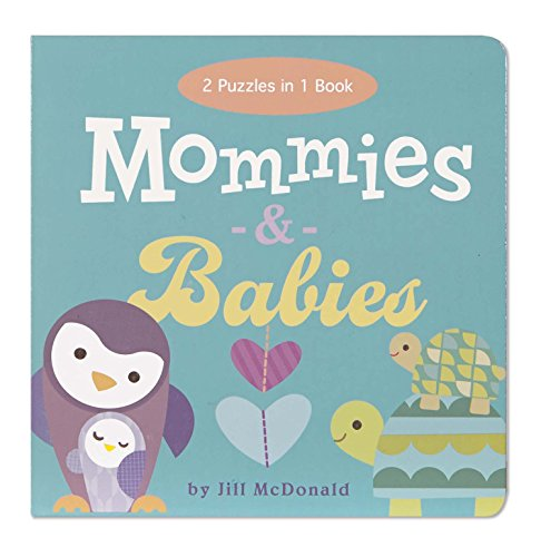 C.R. Gibson Mommies and Babies Puzzle Play Book by Jill McDonald Kids by C.R. Gibson