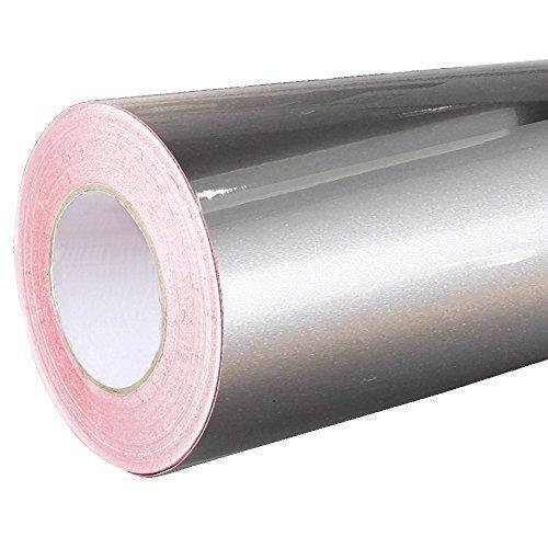 4,75€/m² Rapid Teck® Glanz Folie - 090 Silber - Klebefolie - 5m x 63cm - Plotterfolie- Folie selbstklebend - auch als Moebelfolie - Klebefolie