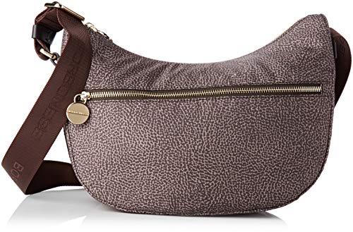 Borbonese Luna Bag Small, Borsa a tracolla Donna, Marrone...