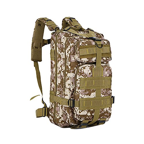 Majome Hombres Mujeres Deportes al Aire Libre Tactical Mochila Camo Bag para Acampar Escalada Montar