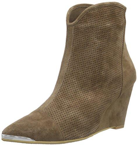 Sofie Schnoor Damen Pointy Boot w. Pattern Kurzschaft Stiefel, Beige (Khaki), 39