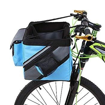 YFjyo Panier de vélo pour Animal Domestique, Chat, Chien, Panier Avant pour Guidon de vélo, Pliable, détachable, Facile à Installer et à dégagement Rapide, b