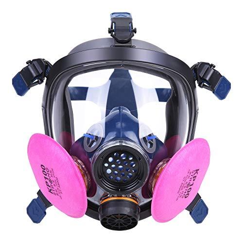 HOLULO Mascaras Proteccion Facial con Filtro,Respirador Facial de Vapor Orgánico Facial Máscara de Seguridad para Pintura,Certificación CE