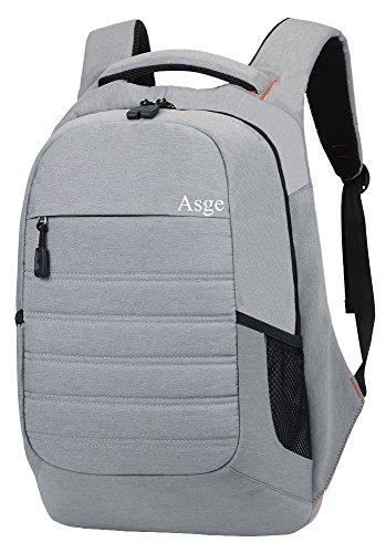 Asge Einfarbig Business Rucksack Nylon Schulrucksack Männer Schultasche Hochschule Backpack Groß Laptoprucksack 15 16 16 Zoll (Grau2)