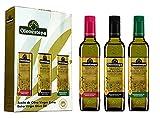 OLEOESTEPA - Estuche HOJAS - Aceite de Oliva Virgen Extra Oleoestepa - 3 Botellas de 500 ml