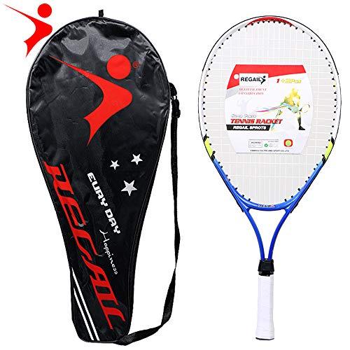 Lixada 1 PCSRacchetta da Tennis per Adolescenti Telaio in Lega di Alluminio con Filo Rigido in Nylon Perfetto per L'allenamento di Tennis per Bambini
