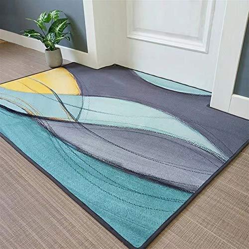 SALE Objekt Teppich GIRLOON mint lila Textilrücken gekettelt ideal für Büro