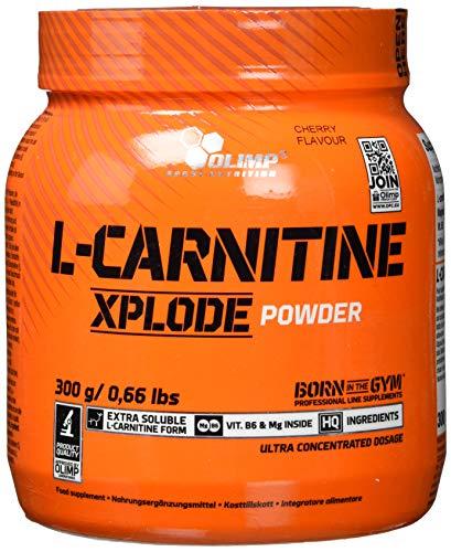 Olimp L-Carnitine Xplode powder - Nahrungsergänzungsmittel, Geschmack Kirsche, 1er Pack (1 x 300 g)