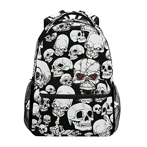 TIZORAX Day of the Dead Sugar Skull Rucksack Schule College Tasche Büchertasche Wandern Reisen Rucksack für Damen Herren, Damen, Muster 11, Einheitsgröße