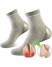 ソックス かかとケア かかと保護 潤い保湿ジェル靴下 かかとサポーター 角質ケア 乾燥 痛みを和らげる 美脚 通気性(レディース)