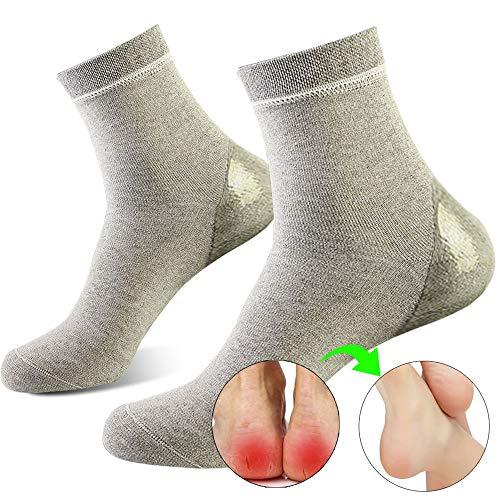 ソックス かかとケア かかと保護 潤い保湿ジェル靴下 かかとサポーター 角質ケア 乾燥 痛みを和らげる 美脚 通気性(メンズ)