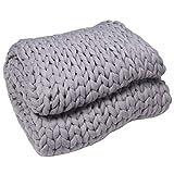 HLPIGF Chunky Knit Blanket Handmade by Soft Knitting Throw Bed Bedroom Decor Bulky Sofa Sofa Decor Air Conditioner Blanket Sofa Blanket