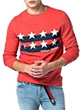 Tommy Jeans Hombre BASIC RIB CN HKNIT L/S 11 Sudadera Manga Larga mono Rojo (High Risk Red) Small