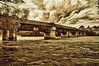 大人のためのジグソーパズル悪いサッキンゲン橋ドイツパズル1000ピース木製旅行お土産ギフト