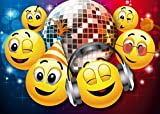 """'Smiley di inviti """"Smiley-Party in der Disco, 10Set di Divertente Smiley/Emoji di biglietti d' invito compleanno o zur Disko von Edition Colibri© (10833)"""