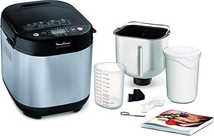 Macchina del pane in acciaio inossidabile, con funzione yogurt, 20 programmi automatici di cui 3 senza glutine OW240E
