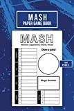 Mash Paper Game Book: Large Mash Game Notepad | Game with Boxes | 144 pages | size : 6 x 9 inch