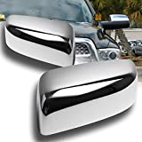 EPARTS Chrome Polished ABS Side View Mirror Full Cover Trim Caps Fit for 2010-2018 Dodge Ram 1500 2500 3500 Non-Towing Mirror