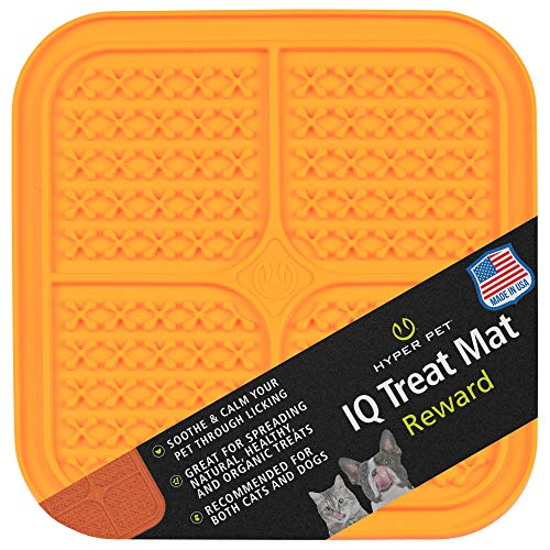 Hyper Pet IQ Treat Mat   Made in USA   Dog Lick Mat & Fun Alternative to Slow Feeder Dog Bowls, Snuffle Mat for Dogs, and Dog Puzzle Toys   Calming Mat for Dog Anxiety Relief   Just Add Healthy Treats