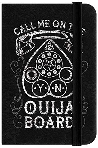 Notizbuch Call Me On The Ouija Board Mini 6,5 x 10 cm schwarz