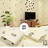 LZYMLA - Papel pintado autoadhesivo de PVC, para dormitorio, sala de estar, habitación de los niños, decoración de gabinete, impermeable, fondo de pared, números amarillos, 60 cm x 5 m