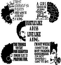 Yetta Quiller Bundle of 5 Black Women Nubian Divas Queen Afro Hair African American Female Lady Vector Clipart Digital Circuit Vinyl Wall Decor Cutting