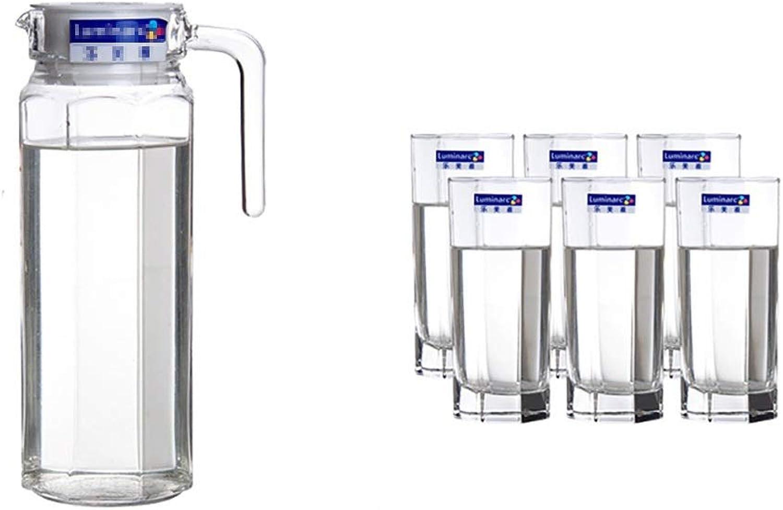 Service à thé en verre Bouteille d'eau Bouteille d'eau bouilloire Ménage Ensemble de grande capacité (Couleur   B)