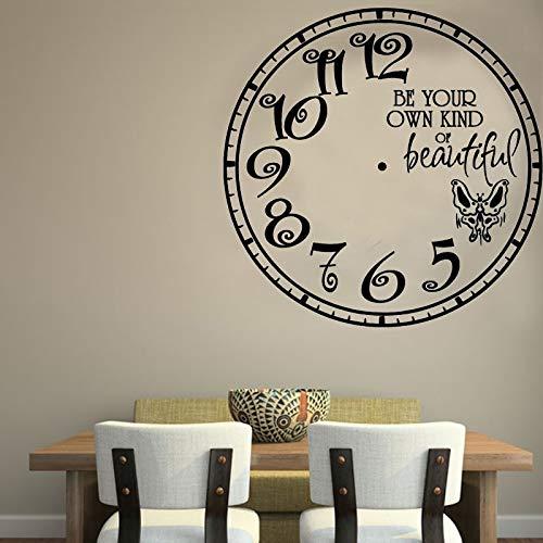 Mariposa reloj de pared pegatinas de pared decoración creativa del hogar tatuajes de pared sala de estar habitación de los niños decoración de jardín de infantes