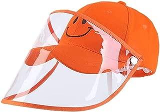 Kids Protective Baseball Cap, Adjustable Anti-fog and Anti- Saliva Splash Transparent Face Mask Protective Film Hat For Girls Boys