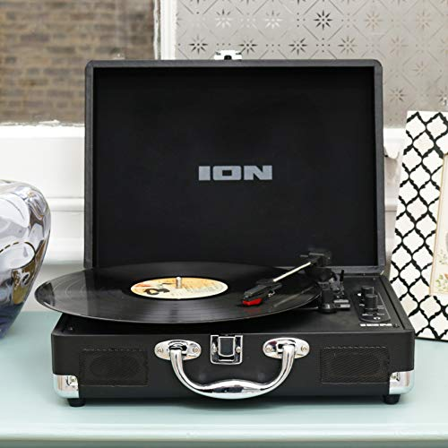 ION Audio Vinyl Motion Air – Wireless Bluetooth Turntable / Vinyl Record Player with Built-In Speakers and Rechargeable…