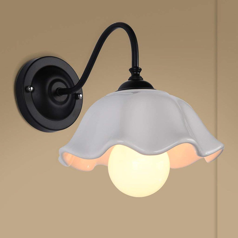 Wandleuchten Einfache Moderne Schmiedeeiserne Wandleuchte Für Dekorative Bar Kaffee Gang Flur Balkon Kreative Persnlichkeit Nachttischlampe (Farbe  Schwarz)