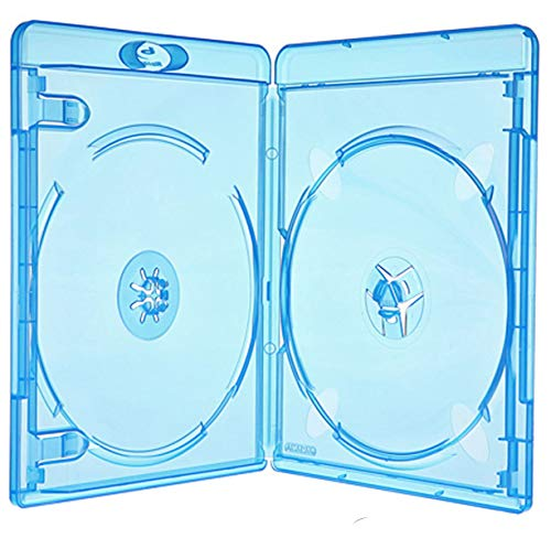 Amaray Blu Ray Hülle 11 mm für 2 Bluray,DVD,CD Disc 25 Leerhüllen