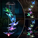 MMTX Chimes Campane Cambia Colore Energia Solare LED Spinner a Spirale...