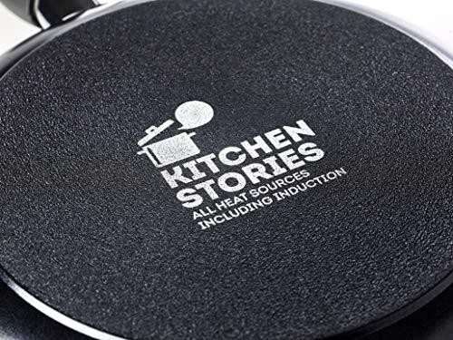 Kitchen Stories CC002625-001 Searsmart Nonstick Open Wok 28 cm/3.7L - Negro - Induction Compatible - Oven Safe