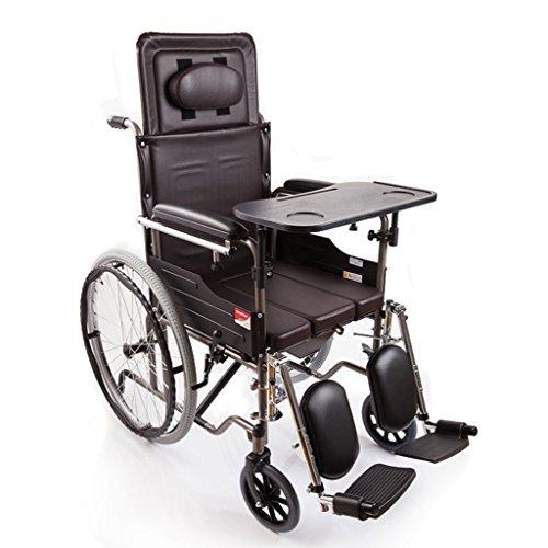 Q-HL Silla de Ruedas Tipo Plegable de la Mitad-Mentira, con los pies ortopédicos, con la cómoda