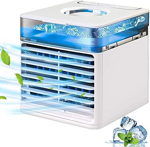 YANRU Mini Climatizzatore per Auto - Luce D'Atmosfera A LED A 7 Colori Cubo Rinfrescante, Protezione Ambientale Raffreddatore, Ufficio A Casa Lavoro All'Aperto