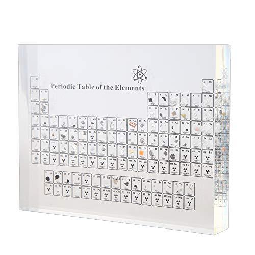 RETTI Acryl Perioden System Anzeige mit Realen Elementen Unterricht Schultag Geburtstag Geschenke Chemische Elemente Anzeige Dekor