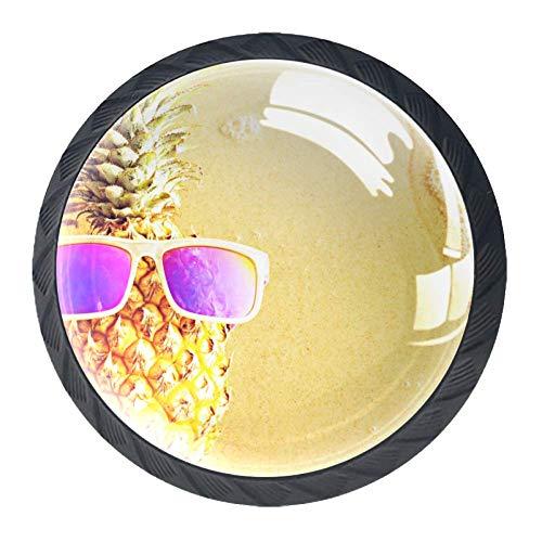 Tür Schublade Zuggriff Coole Ananas Strandmöbel Dekoration für Küchenschrank Schminktisch für Kommode und Schrank