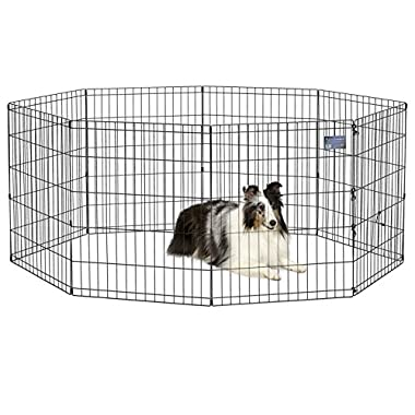 MidWest Foldable Metal Exercise Pen/Pet Playpen, 24 W x 30 H