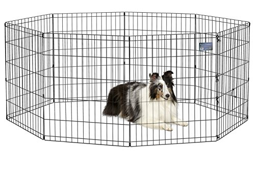 MidWest Foldable Metal Exercise Pen / Pet Playpen,...