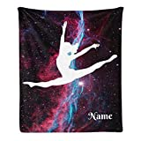 CUXWEOT Custom Blanket with Name Text Personalized Music Dance Soft Fleece Throw Blanket for Gifts (50 X 60 inches)