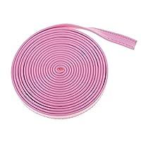 Hellery 3メートルDIYレザーストラップストリップにこれレザークラフトバッグソファ衣服用品 - ピンク