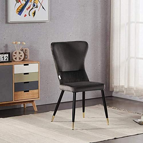 Life Interiors: Silla de terciopelo New York en gris oscuro y puntas doradas | Sala de estar | Silla de comedor | Muebles de terciopelo modernos | (1)