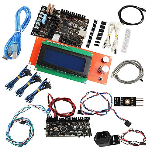 Controller per stampanti 3D Kit stampante 3D con display 1.1A Mainboard + Power + Panic 2004 LCD + kit fili + Filament Sensor + MMU2 scheda di controllo + PINDA V2 sensore for Prusa i3 stampante 3D MK