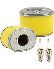OxoxO Juego de 2 filtros de aire de repuesto con bujía, apto para bomba de agua de generador de motor GX140, GX160, GX200, 5HP, 5,5HP, 6,5HP, bomba de agua