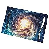 N/A Set di 6 , tovagliette Galaxy a Spirale per Tavolo da Pranzo stuoie Antiscivolo Anti...