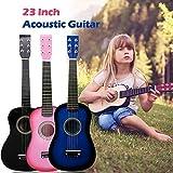 Guitarra acústica para niños de 58,4 cm, 6 cuerdas, guitarra acústica clásica, guitarra acústica pequeña, ideal para principiantes, niños, uso infantil (Rosa), de Origlam.