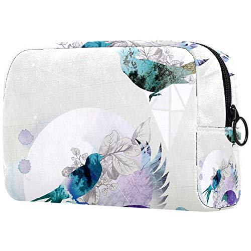 ATOMO Bolsa de maquillaje, bolsa de viaje cosmética grande bolsa de aseo organizador de maquillaje para mujeres, Freelance-Wallpaper-Designer-London-Uk-Illustrator