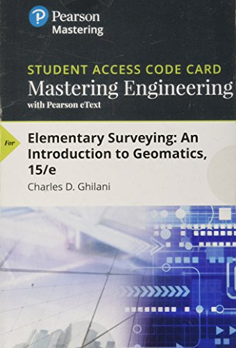 Mastering Engineering with Pearson eText -- Access Card -- for Elementary Surveying: An Introduction to Geomatics